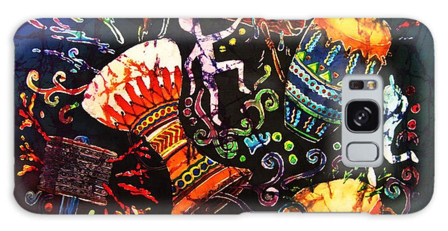 Drums Galaxy S8 Case featuring the painting Drumbeat by Sue Duda