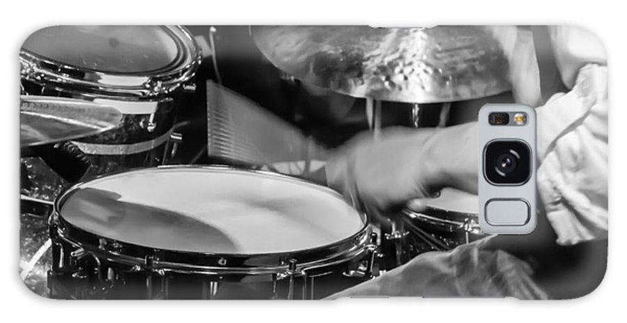 Drum Set Galaxy Case featuring the photograph Drummer at work by Photographic Arts And Design Studio