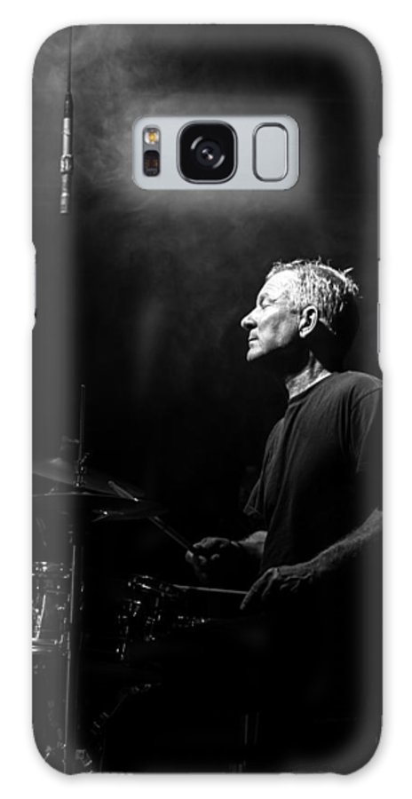 Drummer Galaxy Case featuring the photograph Drummer Portrait of a Muscian by Bob Orsillo
