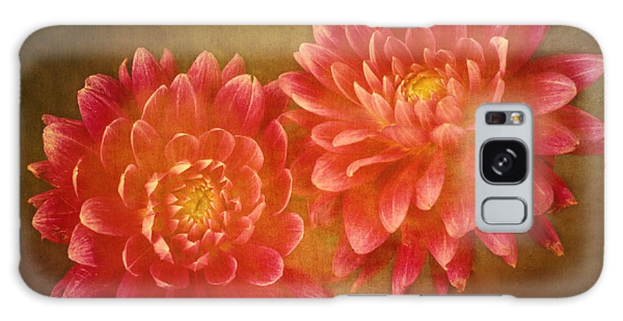 Fine Galaxy Case featuring the photograph Dual Dahlias by Keith Gondron