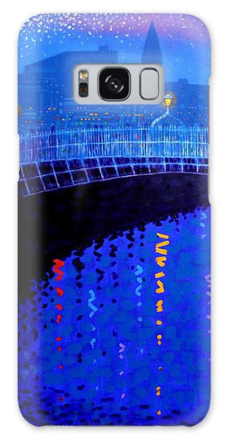 Dublin Galaxy S8 Case featuring the painting Dublin Starry Nights by John Nolan