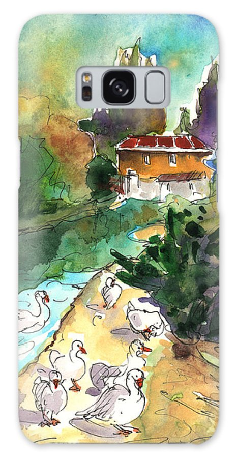 Travel Galaxy S8 Case featuring the painting Ducks In Avila 01 by Miki De Goodaboom