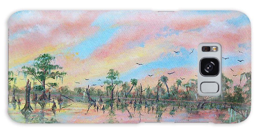 Birds Galaxy S8 Case featuring the painting Ducks Three by Dennis Vebert