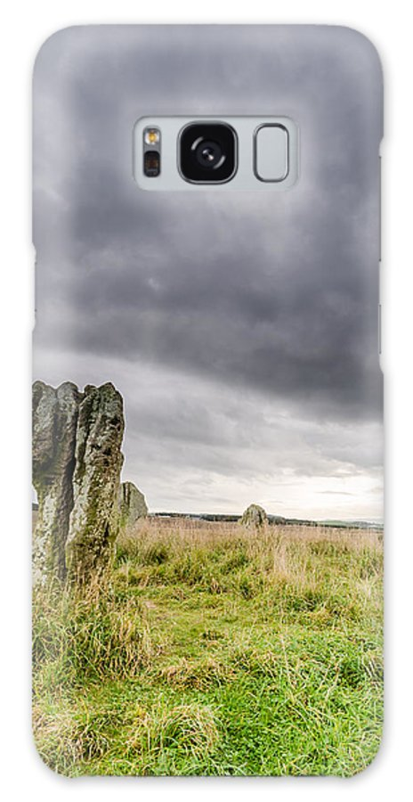 Northumberland Galaxy S8 Case featuring the photograph Duddo Prehistoric Stone Cicle by David Head