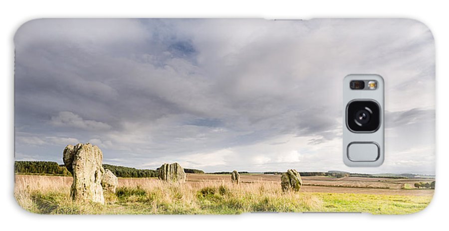 Northumberland Galaxy S8 Case featuring the photograph Duddo Stone Circle by David Head