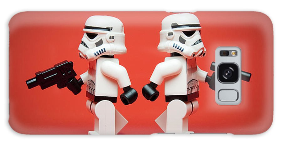 Lego Galaxy S8 Case featuring the photograph Dueling Troopers by Samuel Whitton