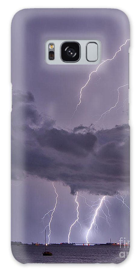 Florida Galaxy S8 Case featuring the photograph Dunedin Causeway Electrified by Stephen Whalen