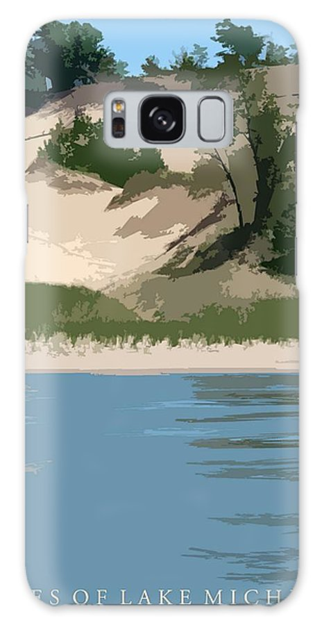 Dunes Galaxy S8 Case featuring the photograph Dunes Of Lake Michigan by Michelle Calkins