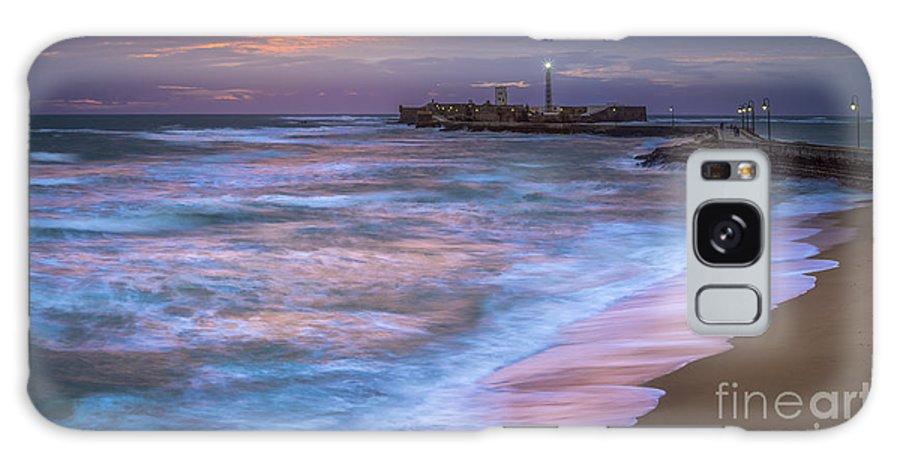 Andalucia Galaxy S8 Case featuring the photograph Dusk At La Caleta Beach Cadiz Spain by Pablo Avanzini