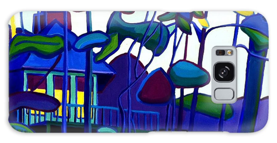 Landscape Galaxy Case featuring the painting Dusk on Massapoag by Debra Bretton Robinson