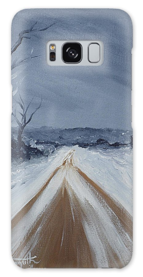 Painting Galaxy S8 Case featuring the painting Dusty Road by Monica Veraguth