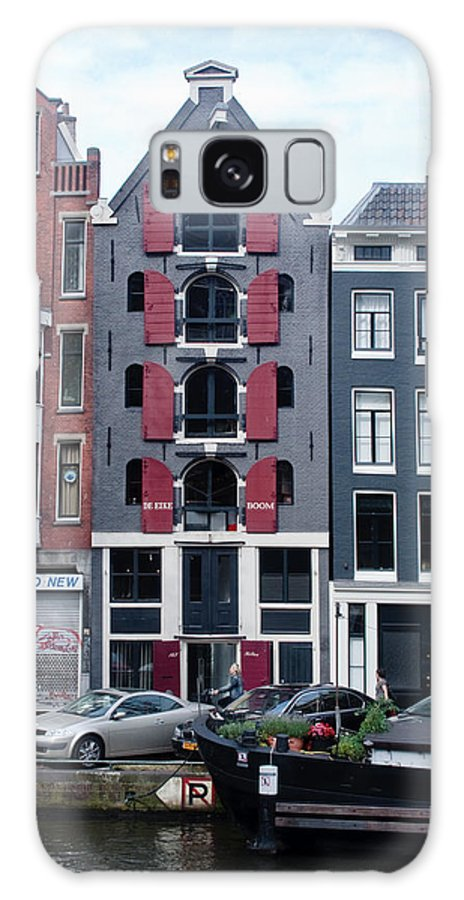 Amsterdam Galaxy S8 Case featuring the photograph Dutch Canal House by Thomas Marchessault