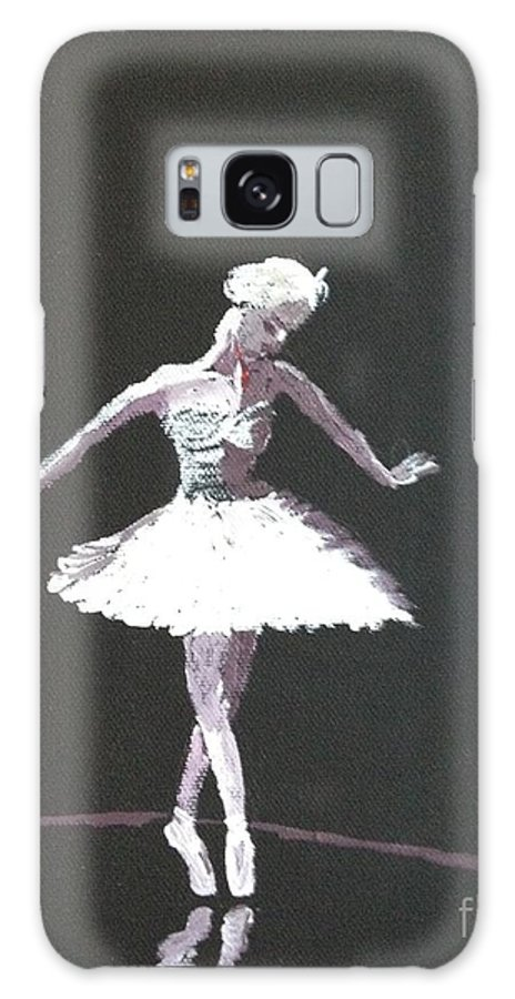 Ballerina Galaxy S8 Case featuring the painting Dying Swan by Ramona Treat