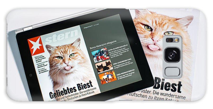 E-magazine Galaxy S8 Case featuring the photograph e-Magazine by Frank Gaertner