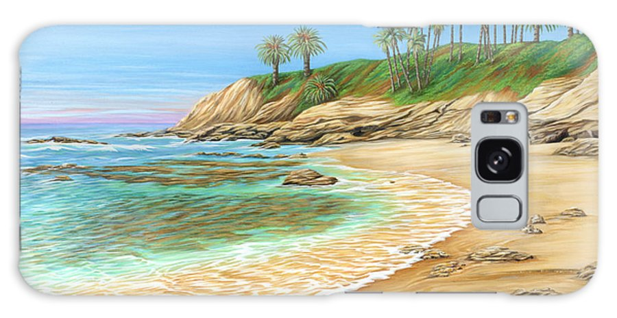 Beach Galaxy Case featuring the painting Early Morning Laguna by Jane Girardot