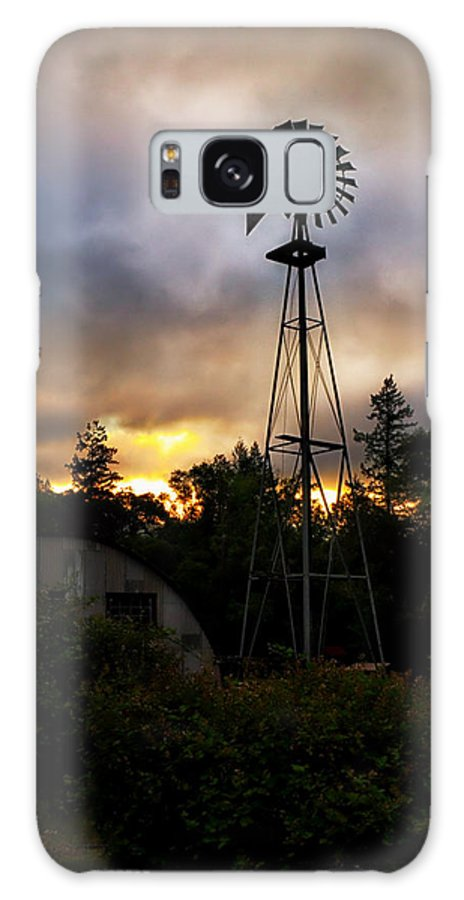 Windmill Galaxy S8 Case featuring the photograph Early Morning Sunrise by Betty Depee
