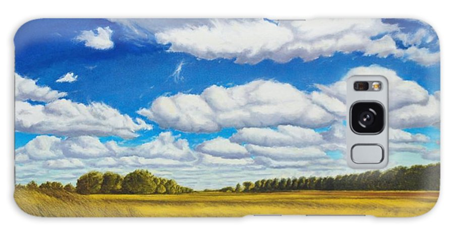 Wheat Galaxy S8 Case featuring the painting Early Summer Clouds by Leonard Heid