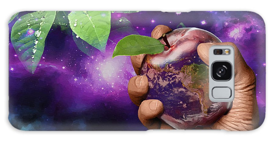Christian Galaxy S8 Case featuring the digital art Earth Apple by Joseph Juvenal