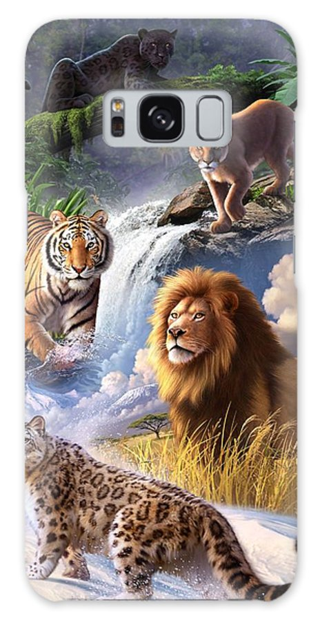 Big Cats Galaxy S8 Case featuring the digital art Earth Day 2013 Poster by Jerry LoFaro