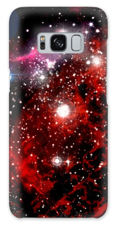 Space Galaxy S8 Case featuring the digital art Earth From Space by Amanda Struz