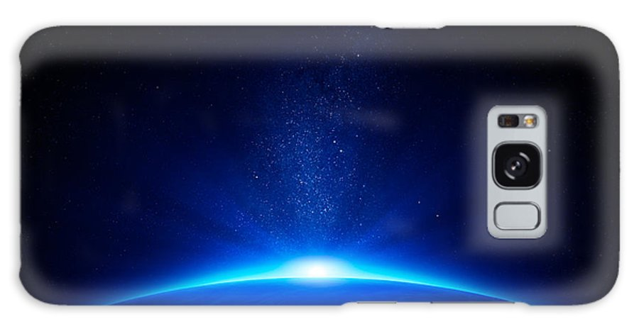 Earth Galaxy Case featuring the photograph Earth sunrise in space by Johan Swanepoel