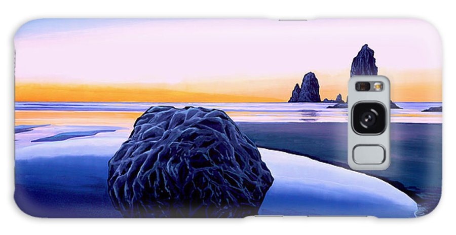 Sunset Galaxy S8 Case featuring the painting Earth Sunrise by Paul Meijering