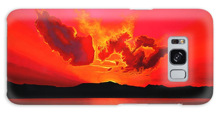 Paul Meijering Galaxy S8 Case featuring the painting Earth Sunset by Paul Meijering