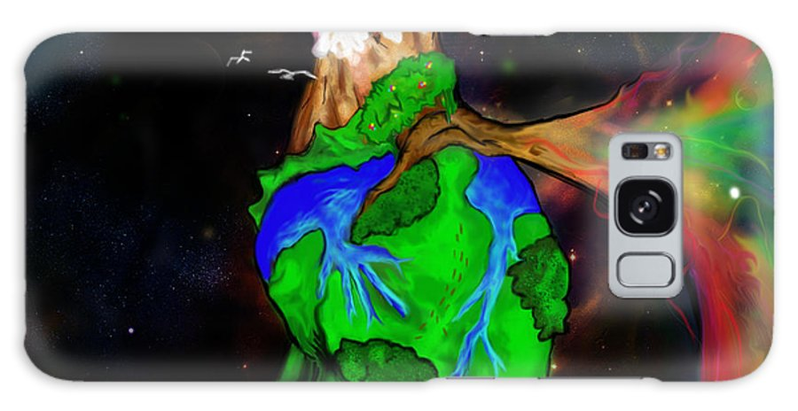 Nature Galaxy S8 Case featuring the digital art Earthheart by Jean Sarmiento