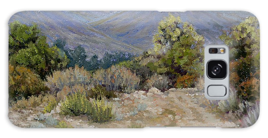 Ojai Galaxy S8 Case featuring the painting East End Terrain by Patricia Cluche