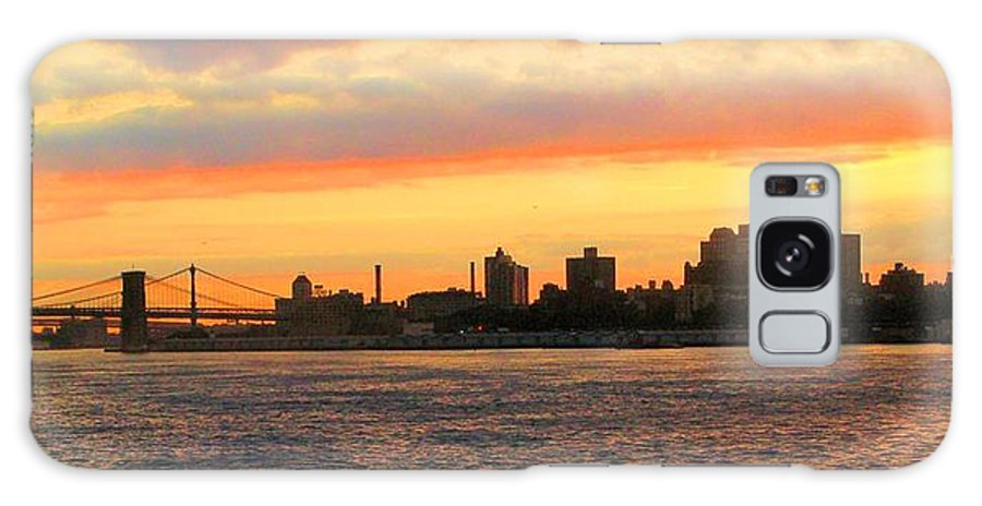 New York City Galaxy S8 Case featuring the photograph East River At Sunrise by Robert McCulloch