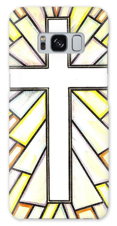 Cross Galaxy Case featuring the painting Easter Cross 3 by Jim Harris