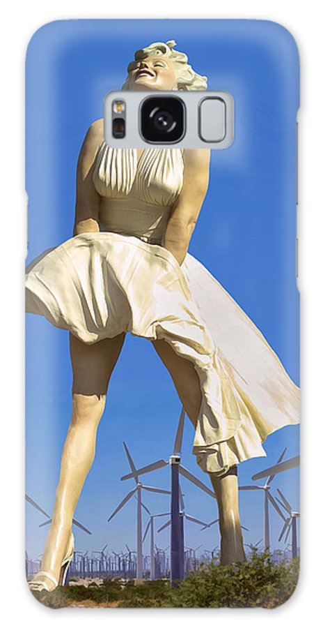 Cool Breeze Galaxy Case featuring the photograph COOL BREEZE MARILYN Palm Springs by William Dey