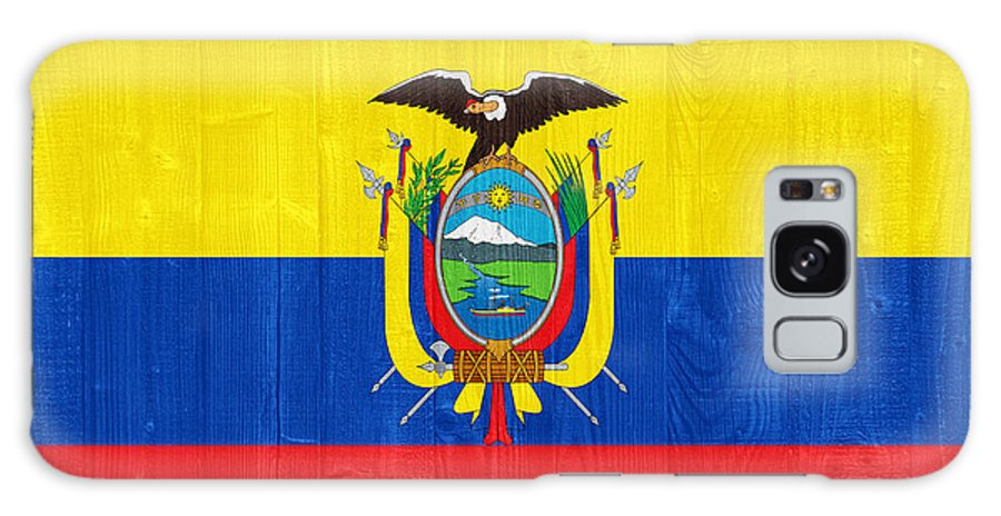 Ecuador Galaxy S8 Case featuring the photograph Ecuador Flag by Luis Alvarenga