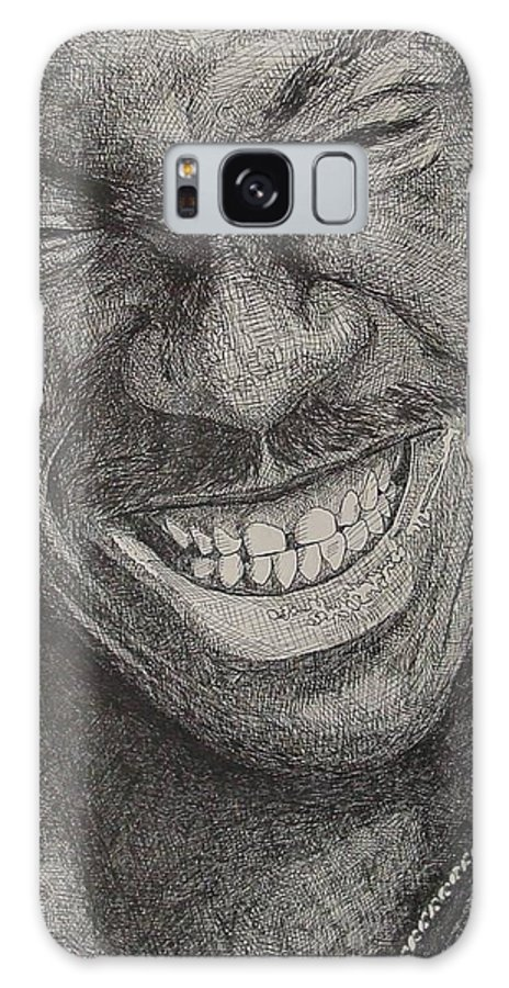 Portraiture Galaxy Case featuring the drawing Eddie by Denis Gloudeman