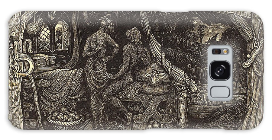 Edward Galaxy S8 Case featuring the drawing Edward Calvert, British 1799-1883, The Chamber Idyll by Litz Collection