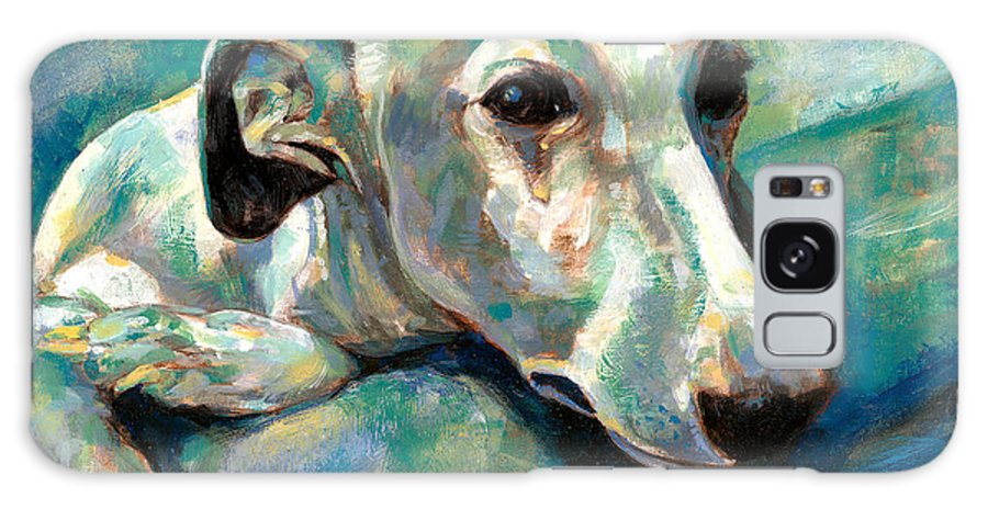 Whippet Paintings Galaxy S8 Case featuring the painting Effects Of Gravity 1 by Derrick Higgins