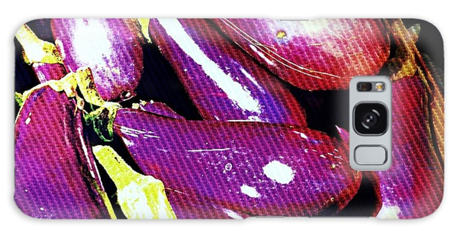 Eggplant Galaxy S8 Case featuring the photograph Eggplants Are Beautiful Works Of Art by Beth Saffer