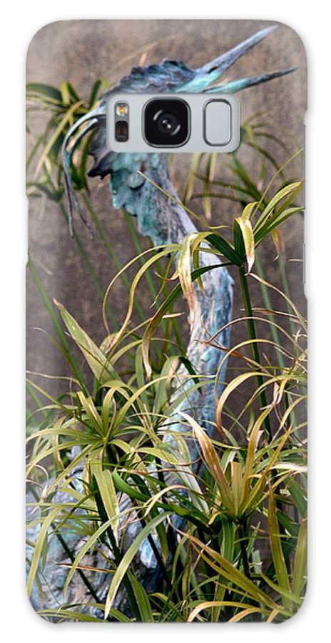 Egret Statue Galaxy S8 Case featuring the photograph Egret Statue by Maria Urso