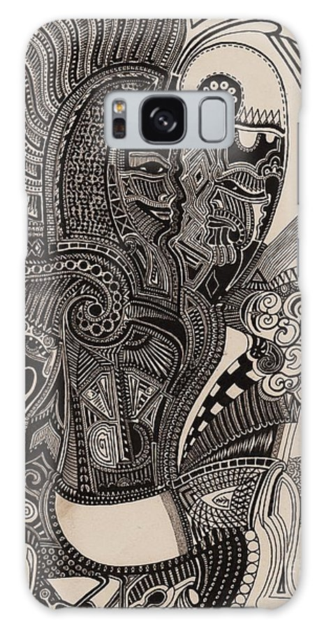 Pen Galaxy S8 Case featuring the drawing Egypt Walking by Michael Kulick