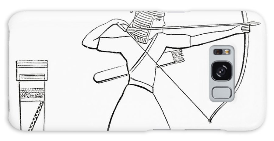 Ancient Galaxy S8 Case featuring the photograph Egyptian Archer And Quiver. From The Imperial Bible Dictionary, Published 1889 by Bridgeman Images