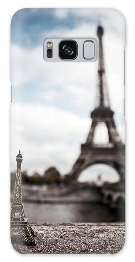 Eiffel Tower Galaxy Case featuring the photograph Eiffel Trinket by Ryan Wyckoff