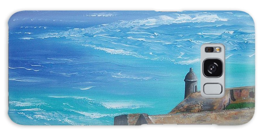 El Morro Ii Galaxy S8 Case featuring the painting El Morro II by Tony Rodriguez