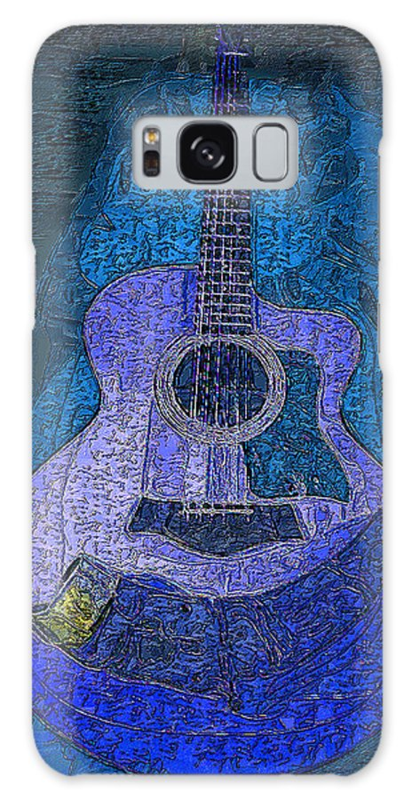Galaxy S8 Case featuring the digital art Electric Guitar by Philip Dammen