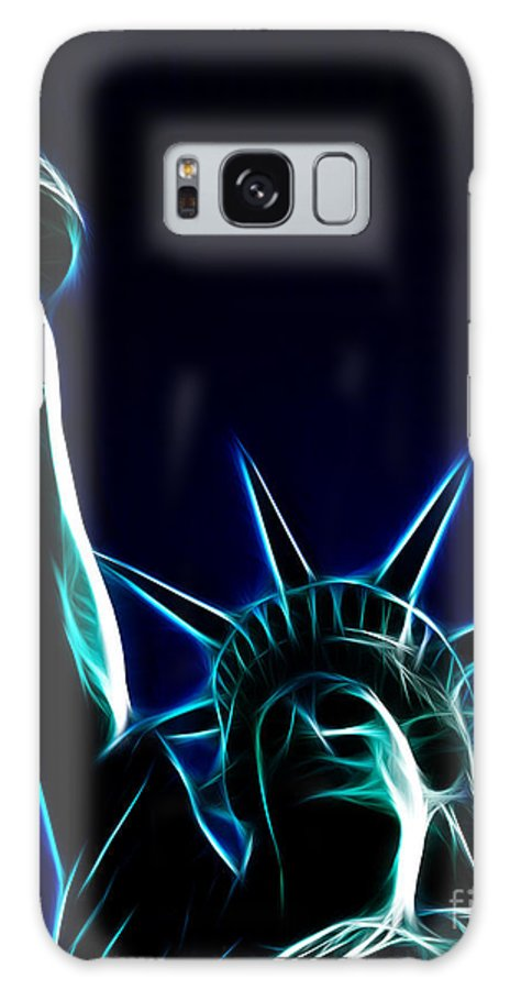 Statue Of Liberty Galaxy S8 Case featuring the photograph Electric Liberty by Tommy Anderson