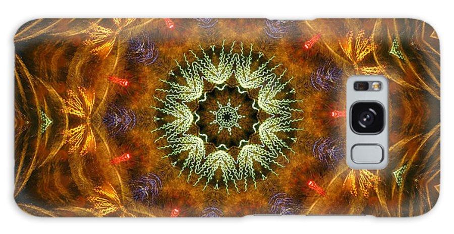 Mandala Galaxy S8 Case featuring the digital art Electric Mandala 1 by Rhonda Barrett