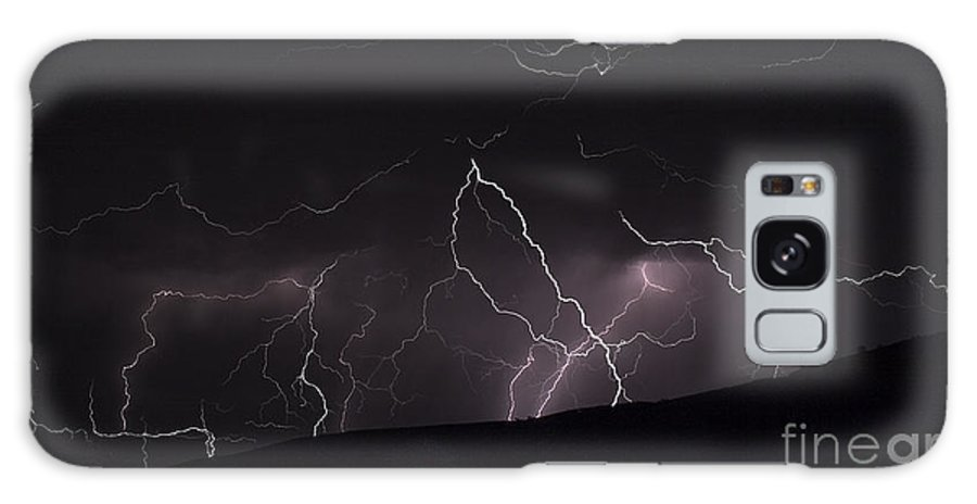 Lightning Galaxy S8 Case featuring the photograph Electrified Hillside by J L Woody Wooden