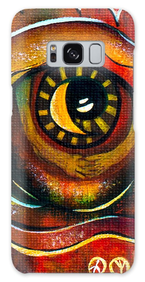 Galaxy S8 Case featuring the painting Elementals Spirit Eye by Deborha Kerr