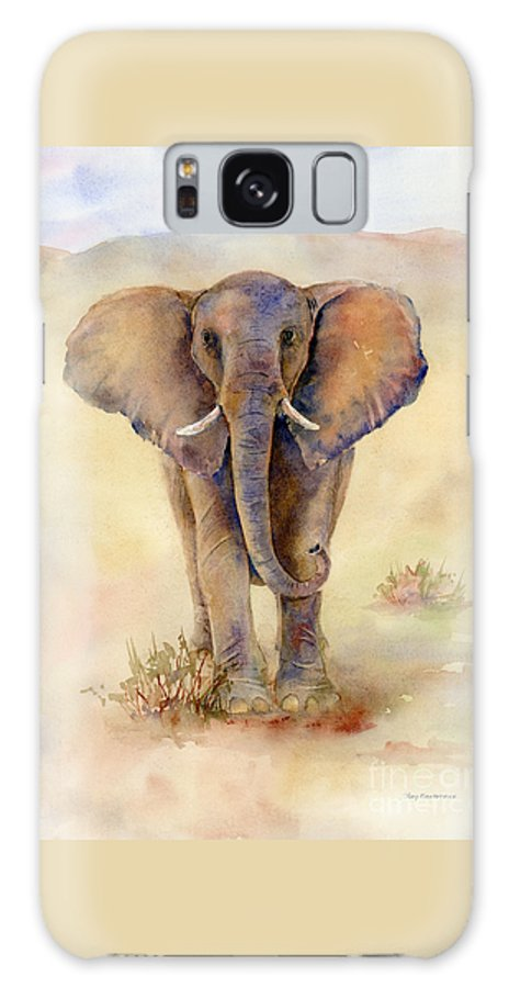 Elephant Galaxy S8 Case featuring the painting Elephant by Amy Kirkpatrick
