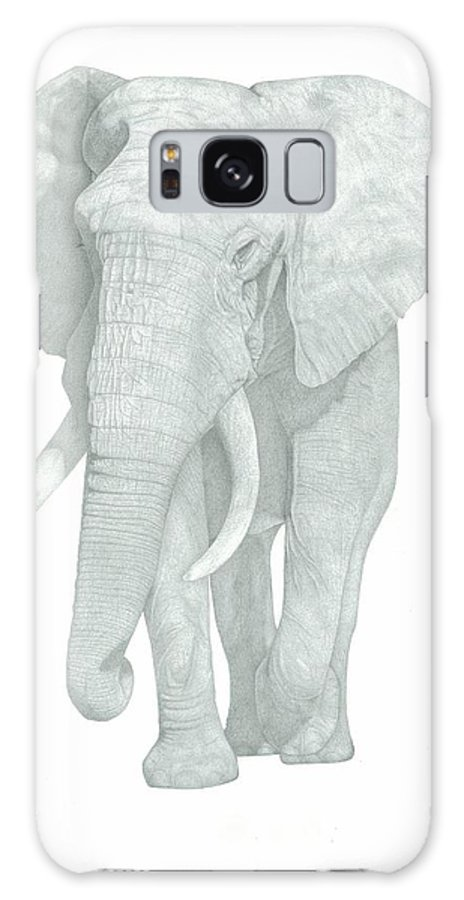 Elephant Drawings Galaxy S8 Case featuring the drawing Elephant by Rich Colvin