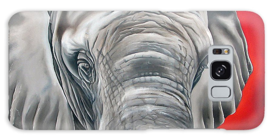 Elephant Galaxy S8 Case featuring the painting Elephant Six Of Eight by Ilse Kleyn